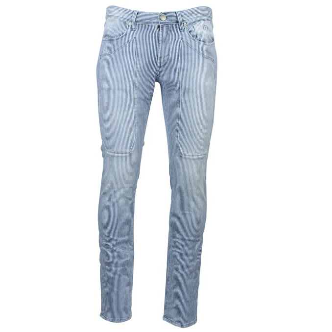 Slim Patch Indigo Jeans Stripe White / blue Jeckerson