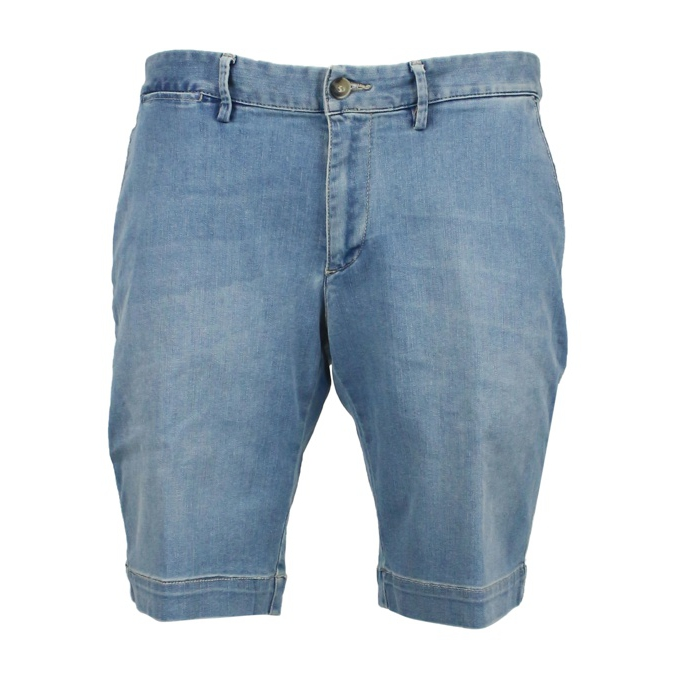 Short Chino slim 3 blend Light denim Jeckerson