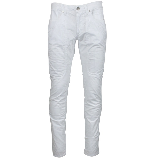 Slim patch trousers White Jeckerson