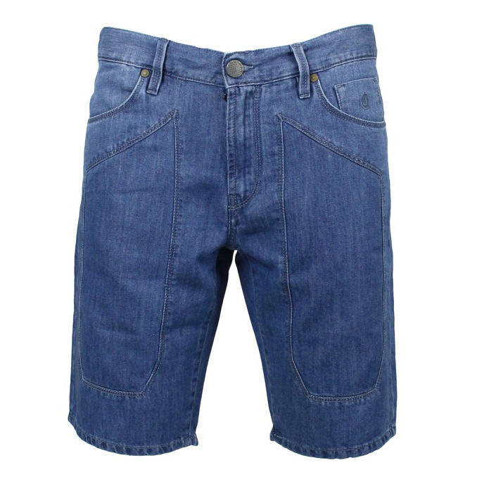 Patch jeans shorts Medium denim Jeckerson