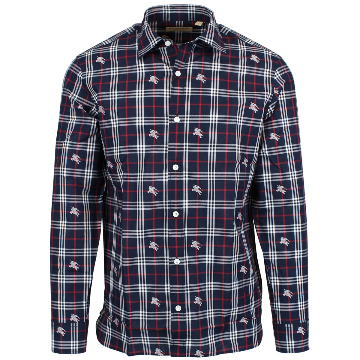 Edward shirt with logo Navy Burberry