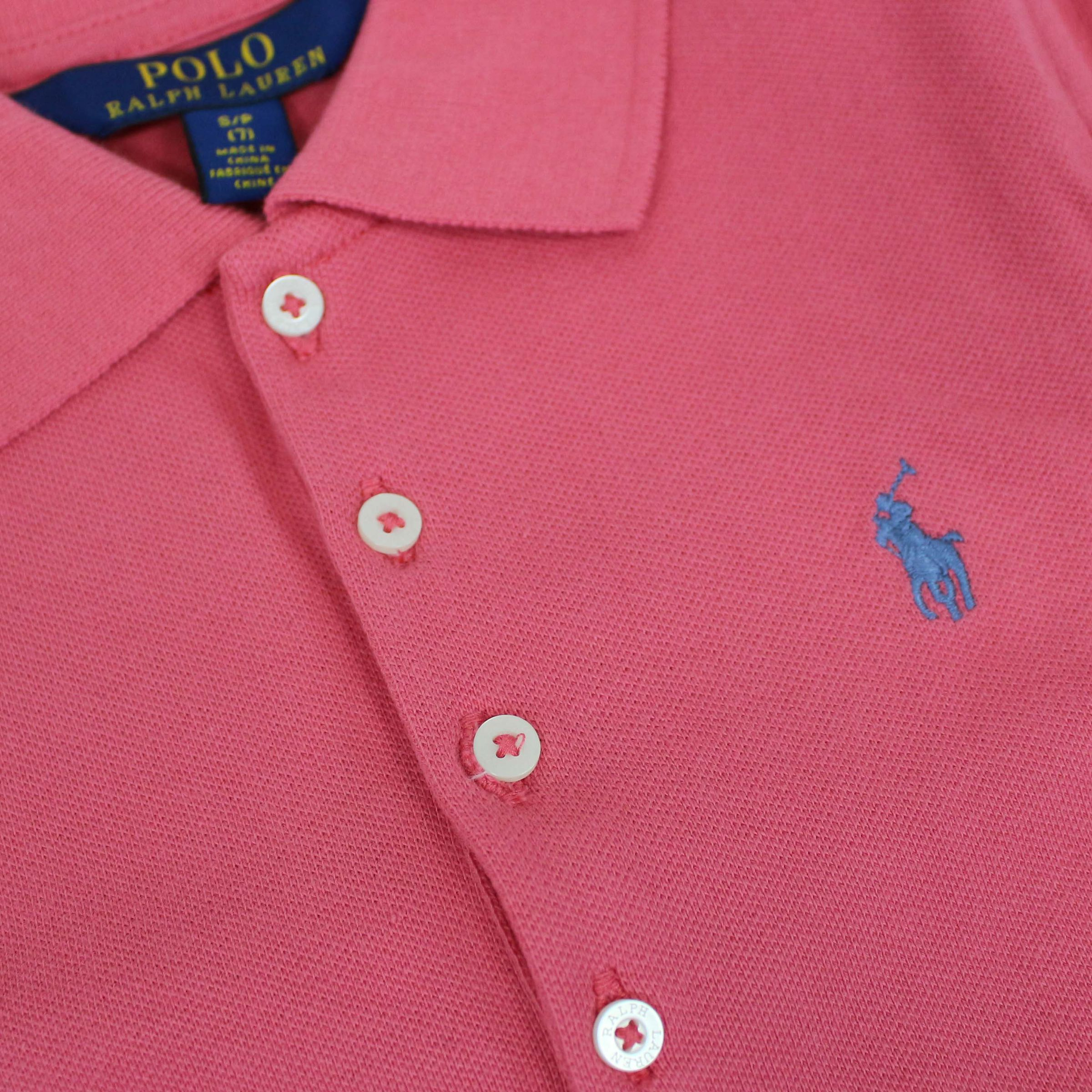 458ae8466 ... Silm-fit polo shirt with logo embroidery Strawberry Polo Ralph Lauren
