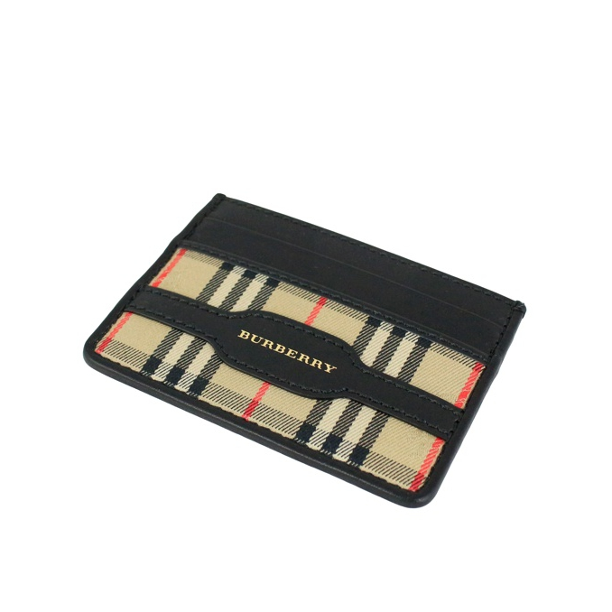 Sandon document holder Camel check Burberry