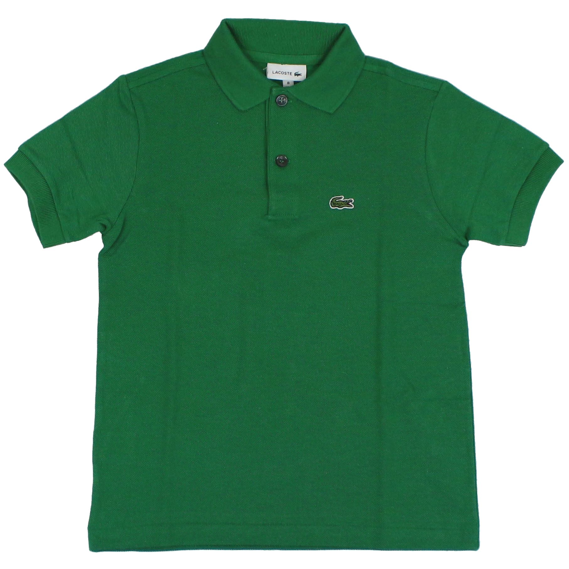 Polo Verde Bambino.2 Button Cotton Polo Shirt