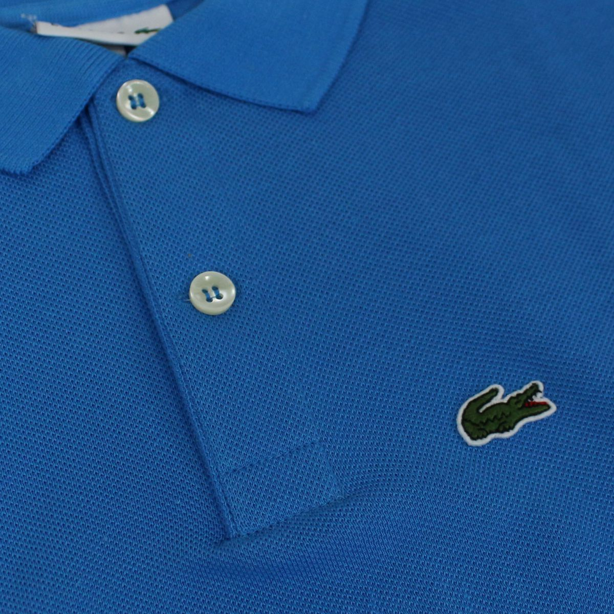 2 button cotton polo shirt Light blue Lacoste