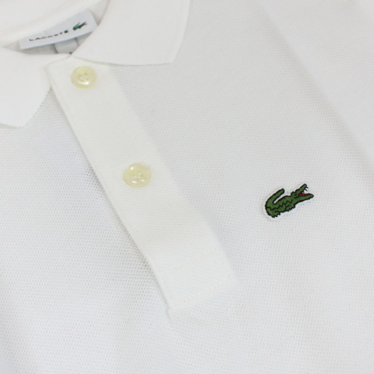 2 button cotton polo shirt White Lacoste