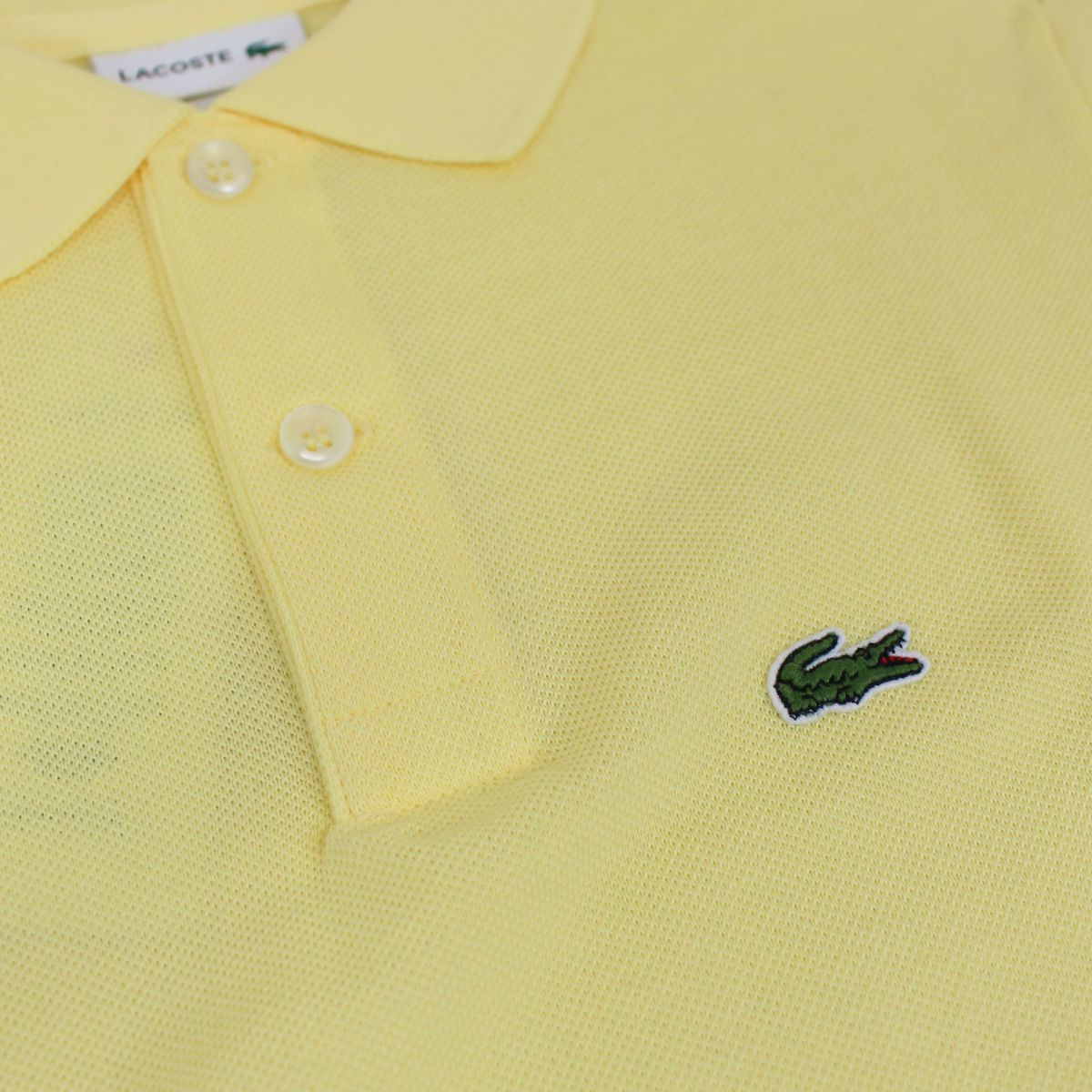 2 button cotton polo shirt Yellow Lacoste