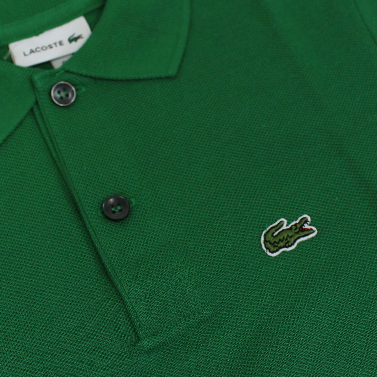 2 button cotton polo shirt Green Lacoste