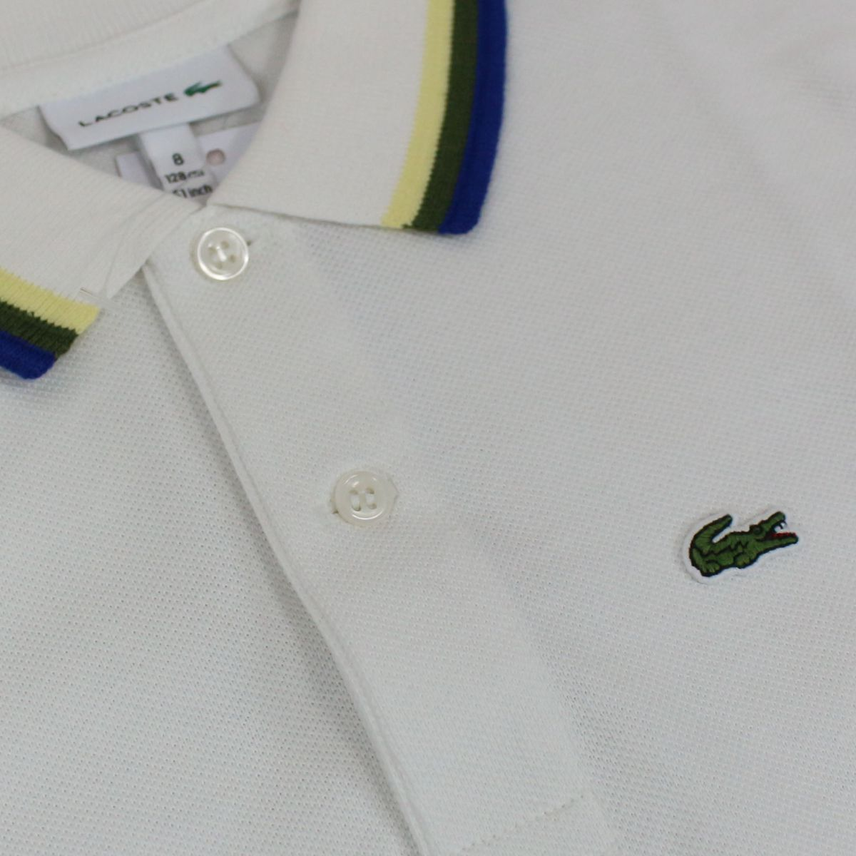 Cotton polo shirt with contrasting collar White Lacoste