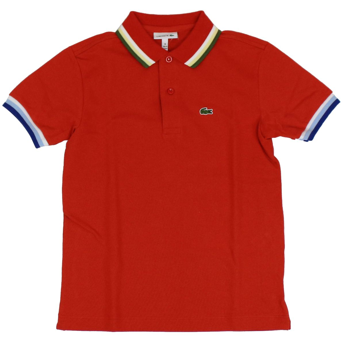 Cotton polo shirt with contrasting collar Coral Lacoste