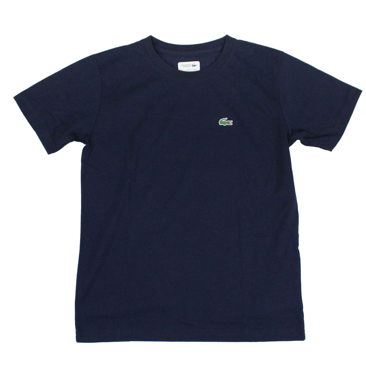 Crew-neck t-shirt with logo embroidery Blue Lacoste
