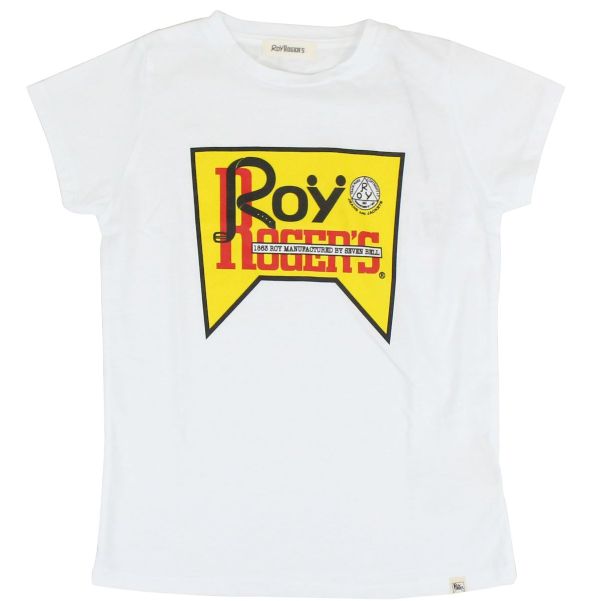 Short sleeve t-shirt with contrast logo White ROY ROGER'S