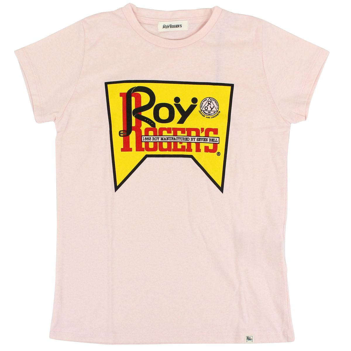 Short sleeve t-shirt with contrast logo Rose Roy Roger's