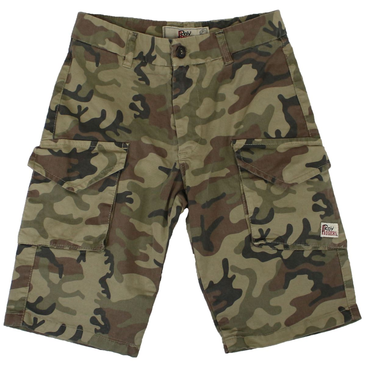 Cotton short with camouflage print Yellow ROY ROGER'S