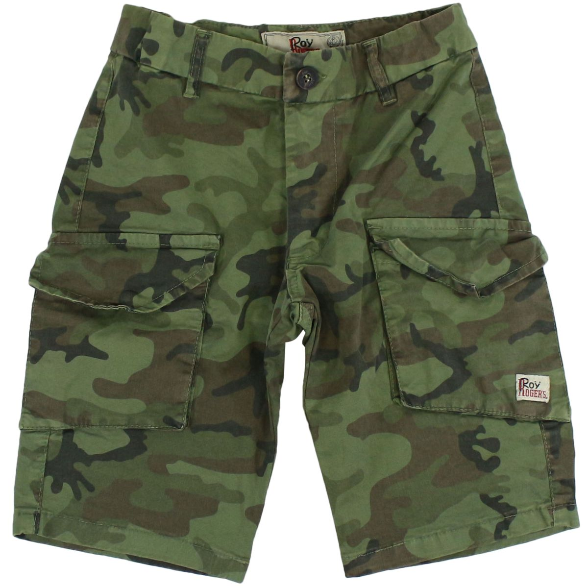 Cotton short with camouflage print Green Roy Roger's