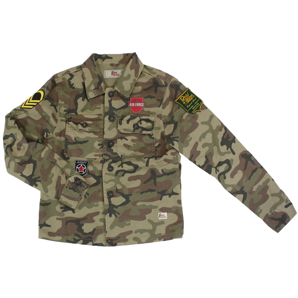 Camouflage shirt with patch Camouflage ROY ROGER'S
