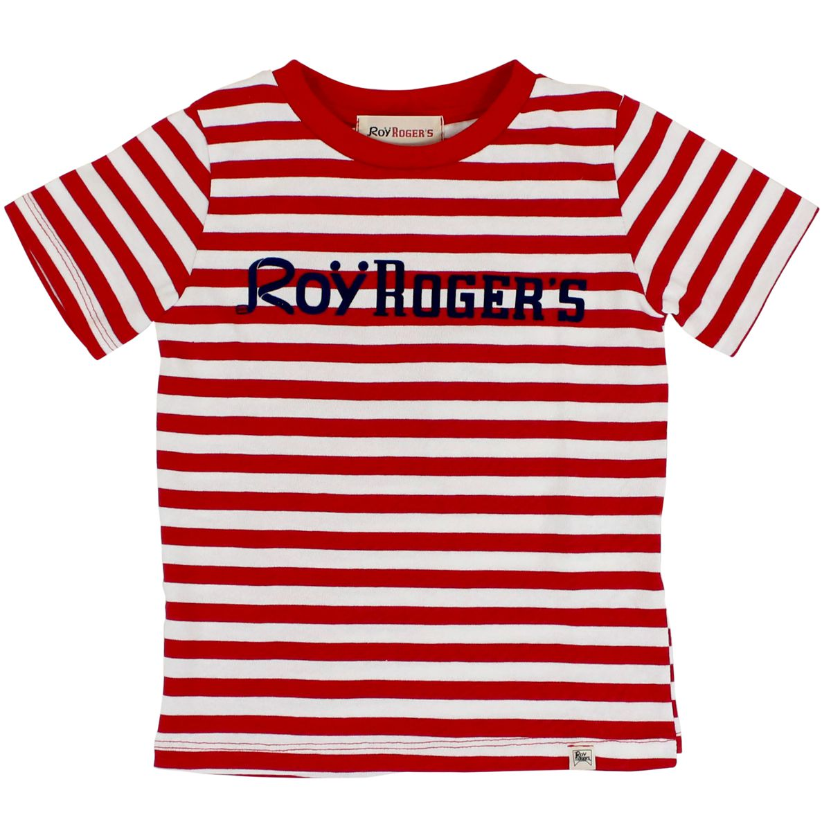 Striped T-shirt with contrast logo Red / b.co Roy Roger's