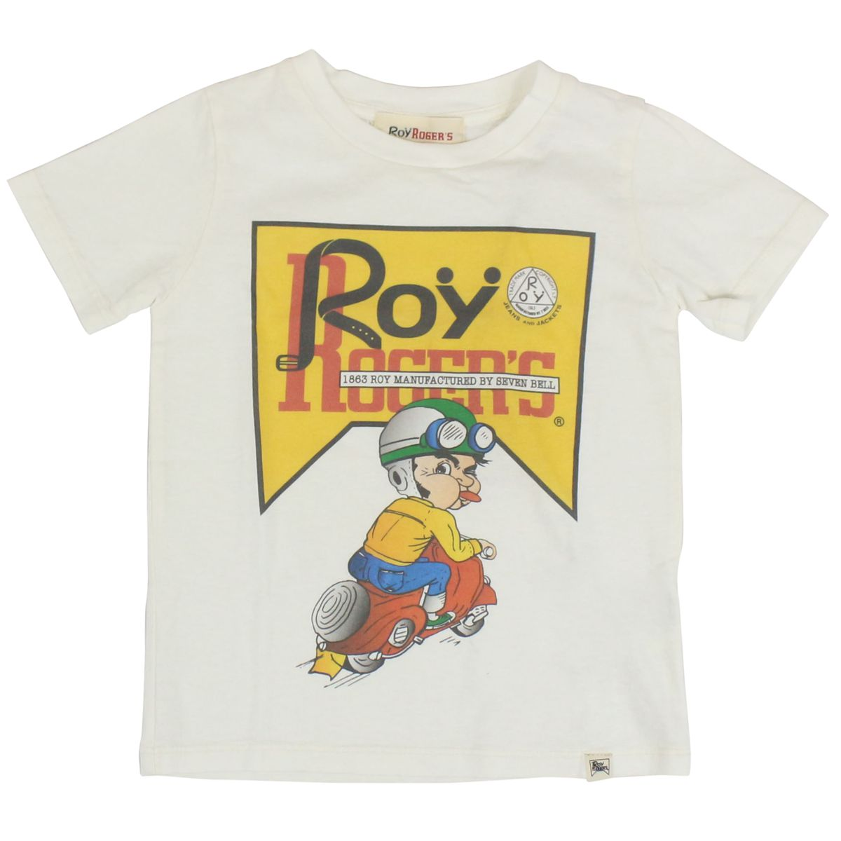 T-shirt with wasp print and logo White ROY ROGER'S