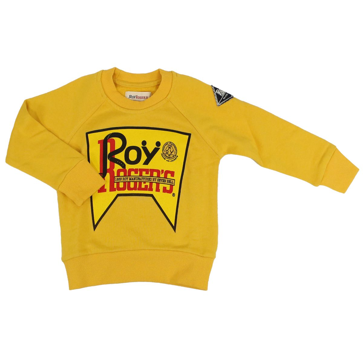 Cotton sweatshirt with logo Yellow ROY ROGER'S