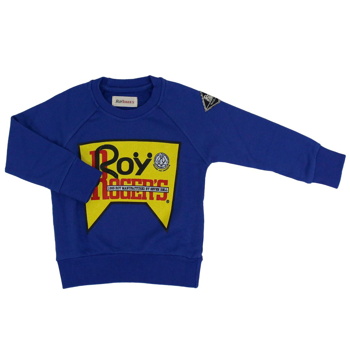Cotton sweatshirt with logo Royal ROY ROGER'S