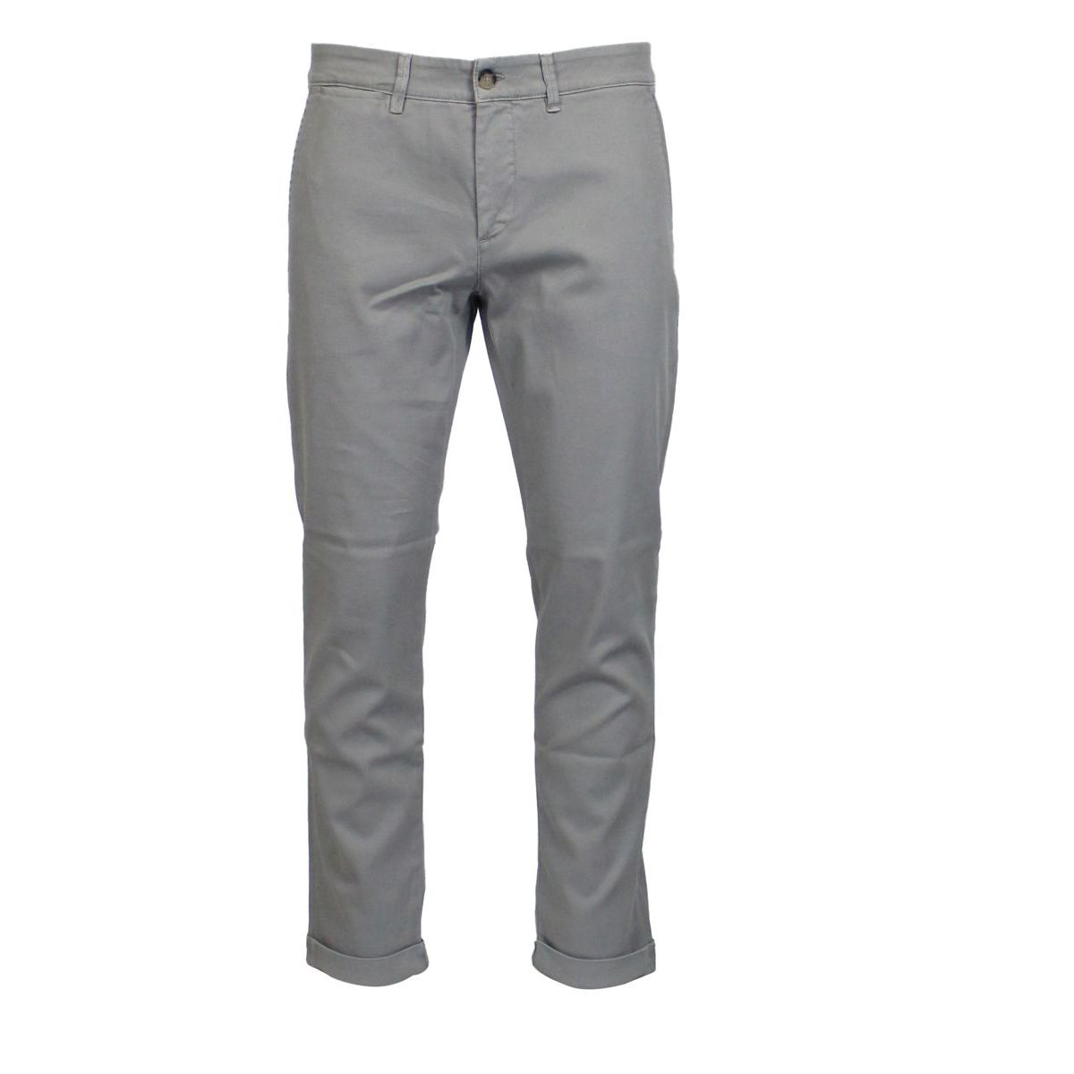 Stretch cotton trousers with america pockets Grey Jeckerson