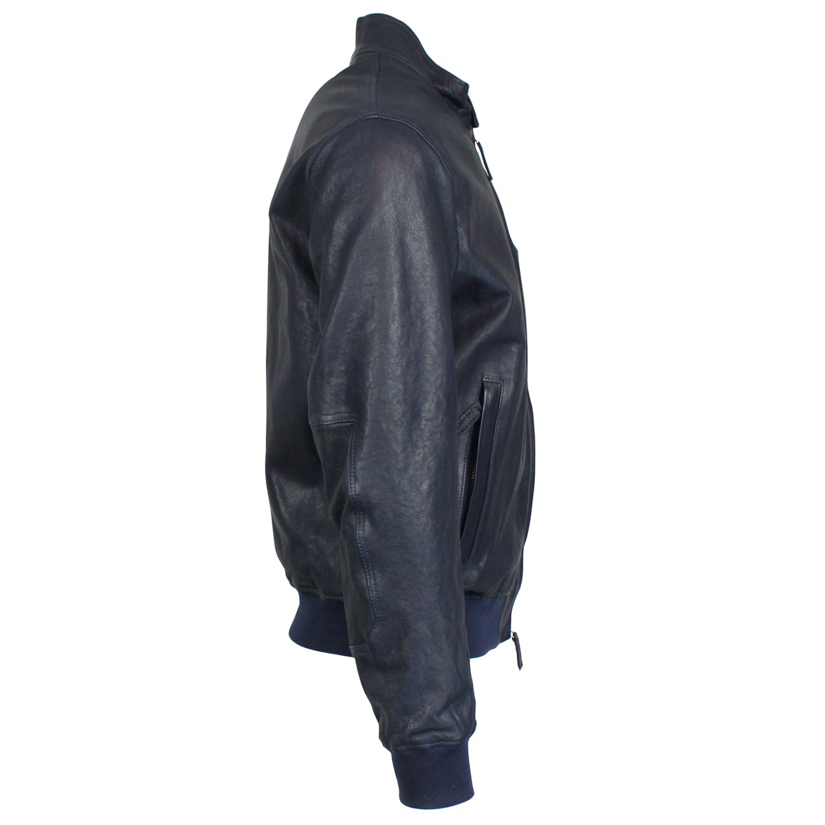 Full zip leather jacket Blue Jeckerson