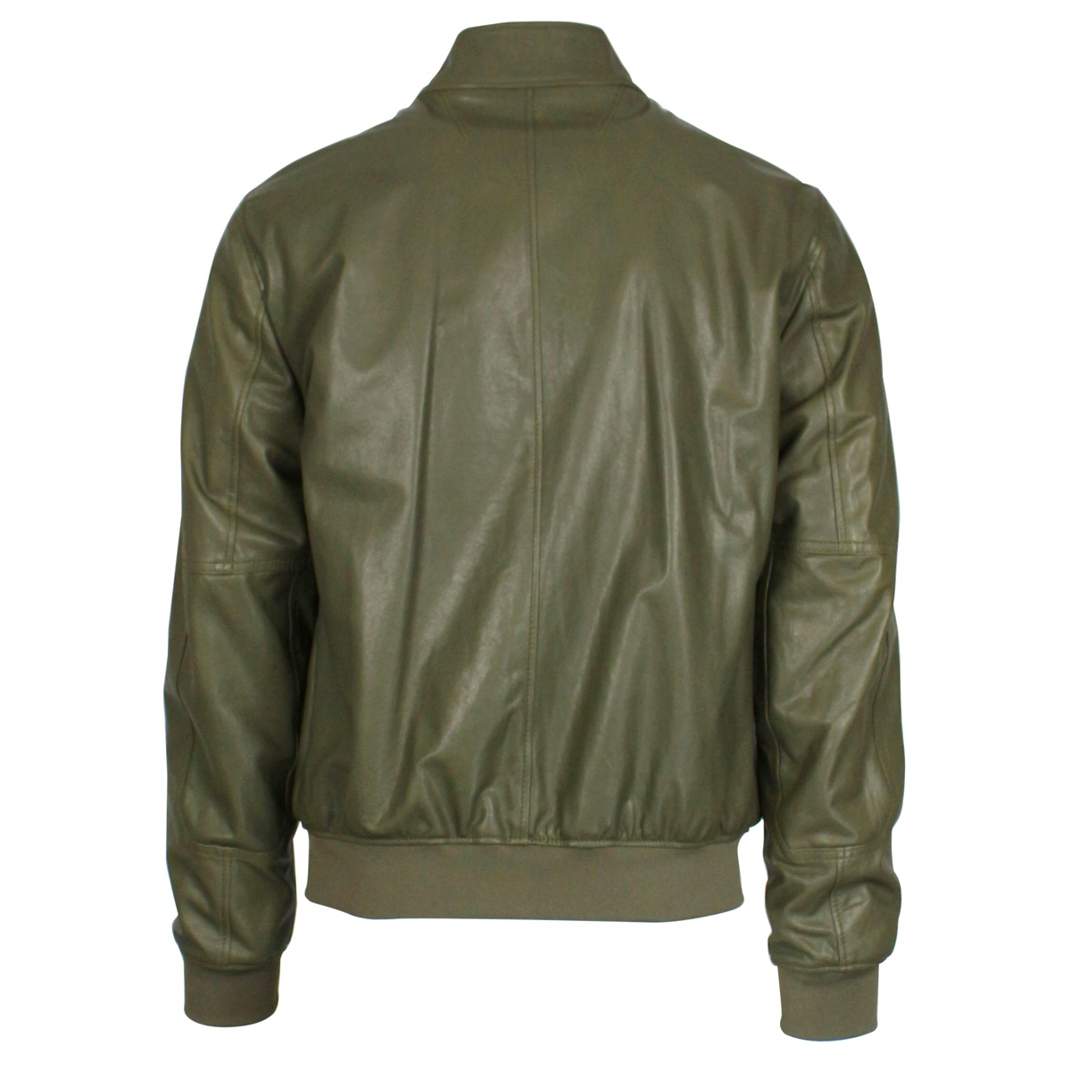 Full zip leather jacket Green Jeckerson