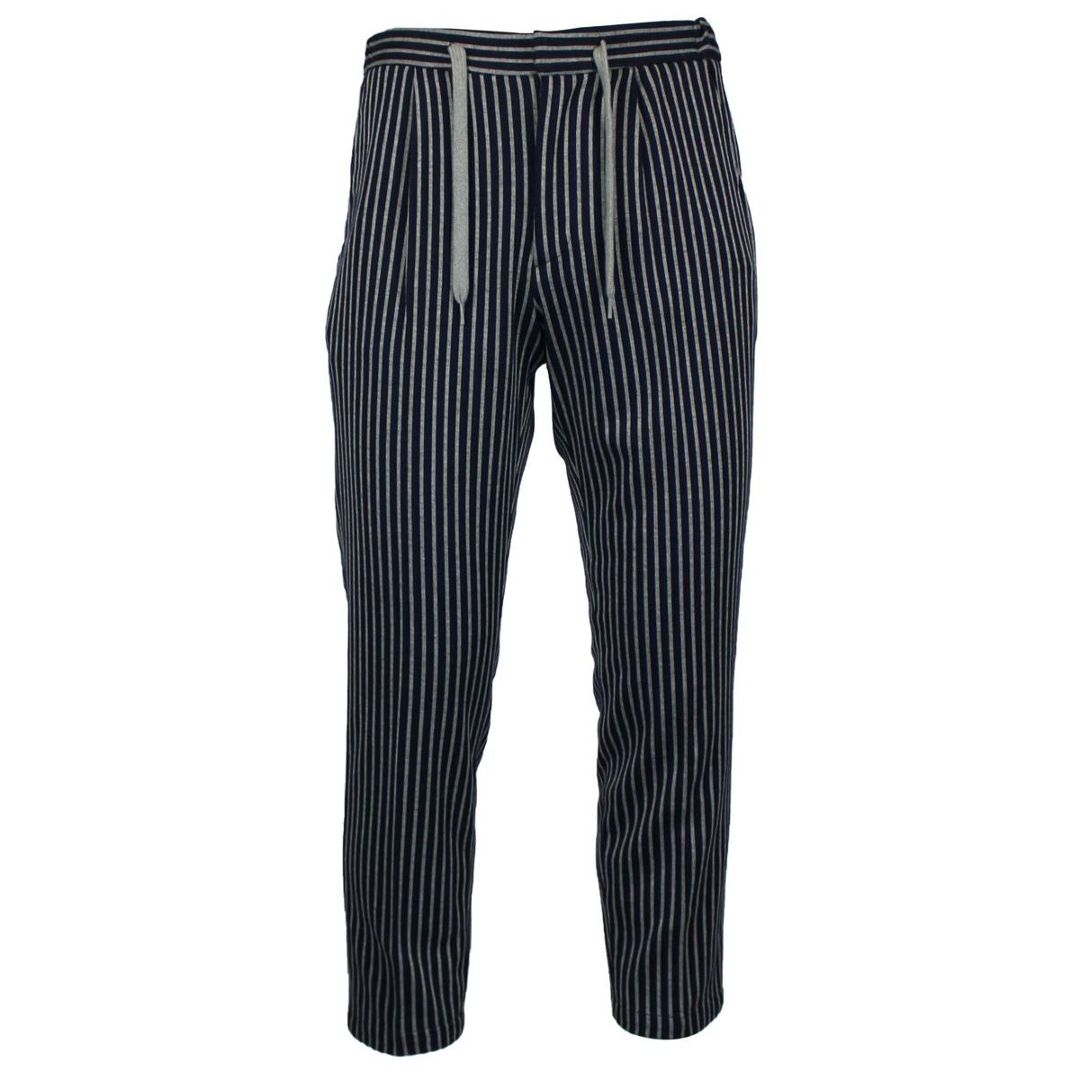 Striped trousers with lace Blue BARONIO