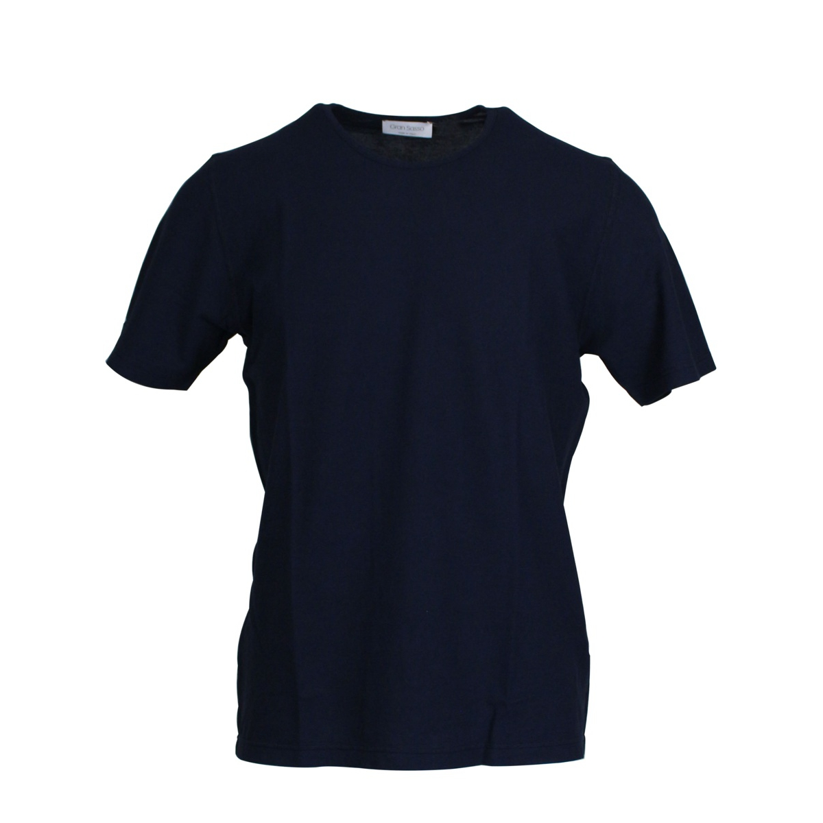 Basic crew neck T-shirt Navy GRAN SASSO