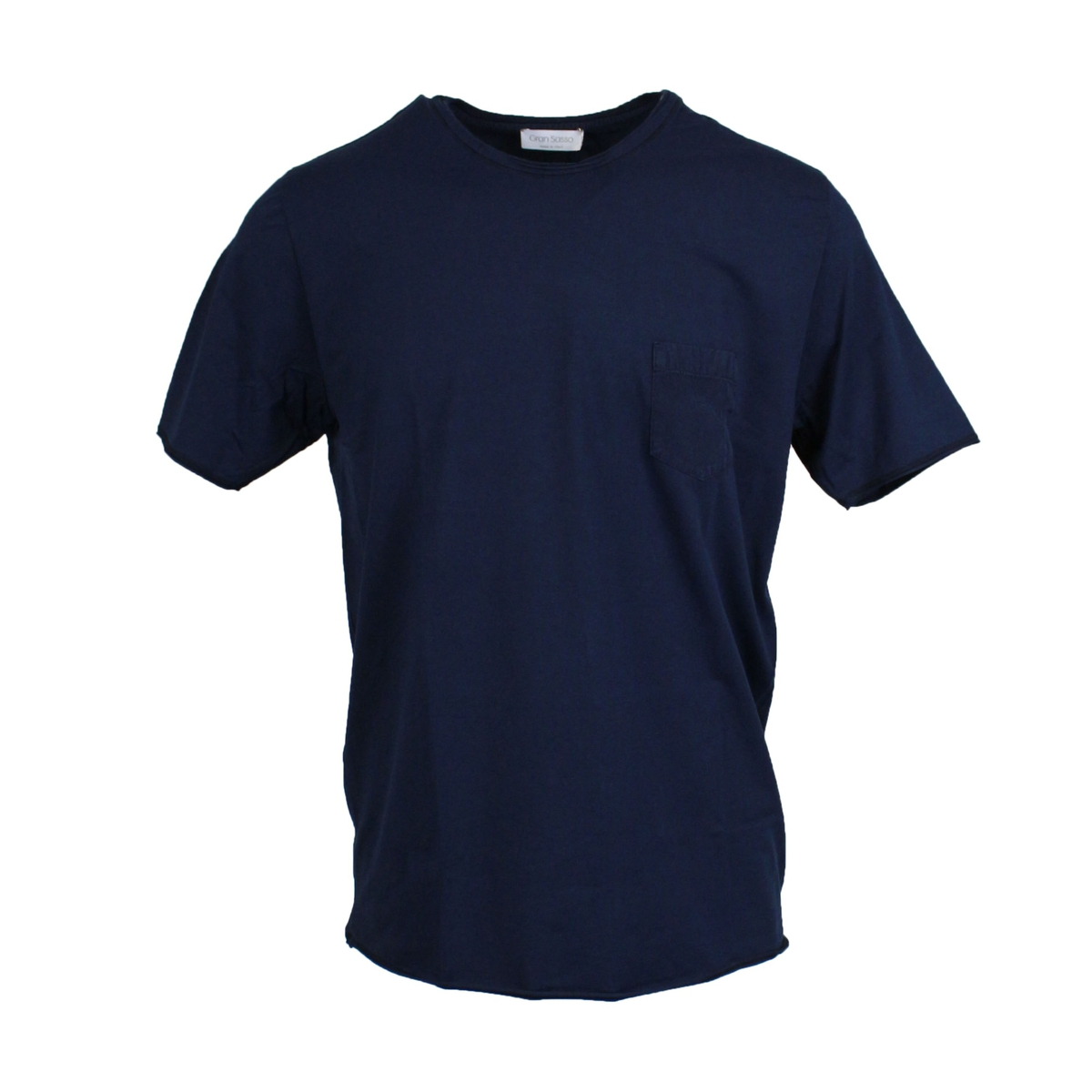 Crew-neck T-shirt with pocket Navy Gran Sasso