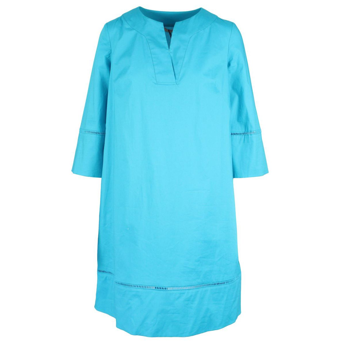 Cotton dress with embroidery and 3/4 sleeves Light blue Twin-Set