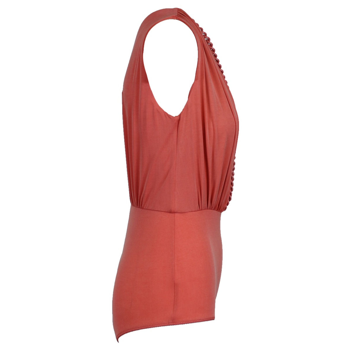 Sleeveless body with chain Peony Elisabetta Franchi