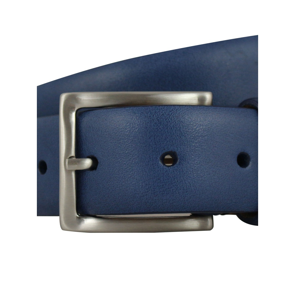 Leather belt H 35 Ink SERGIO GAVAZZENI