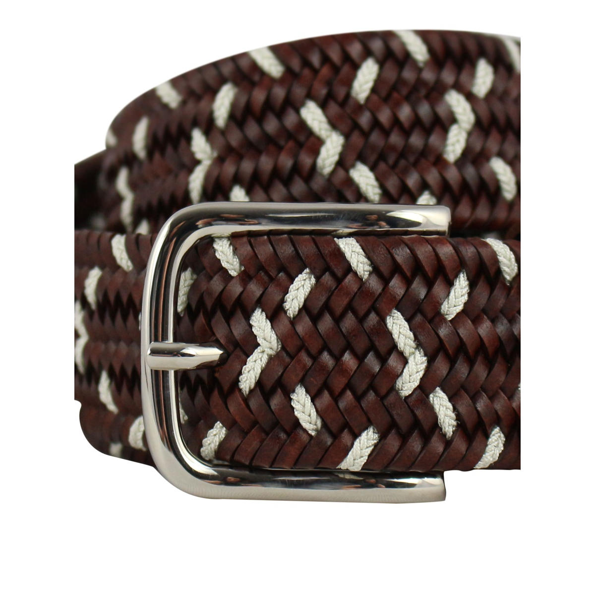 H 32 woven leather belt Leather SERGIO GAVAZZENI