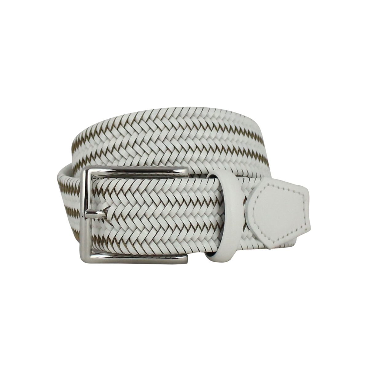 Braid belt H 32 White SERGIO GAVAZZENI