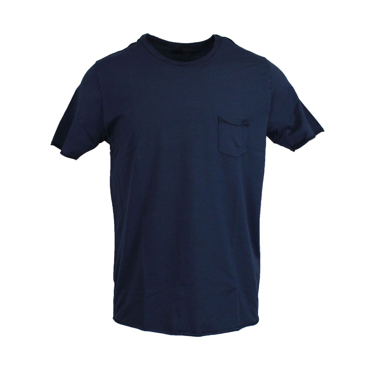 crewneck t-shirt with pocket Blue GRAN SASSO