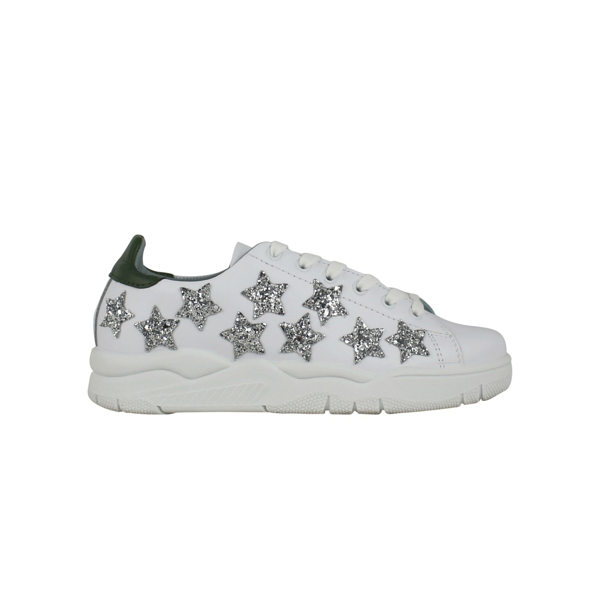 Sneakers with glitter stars White CHIARA FERRAGNI