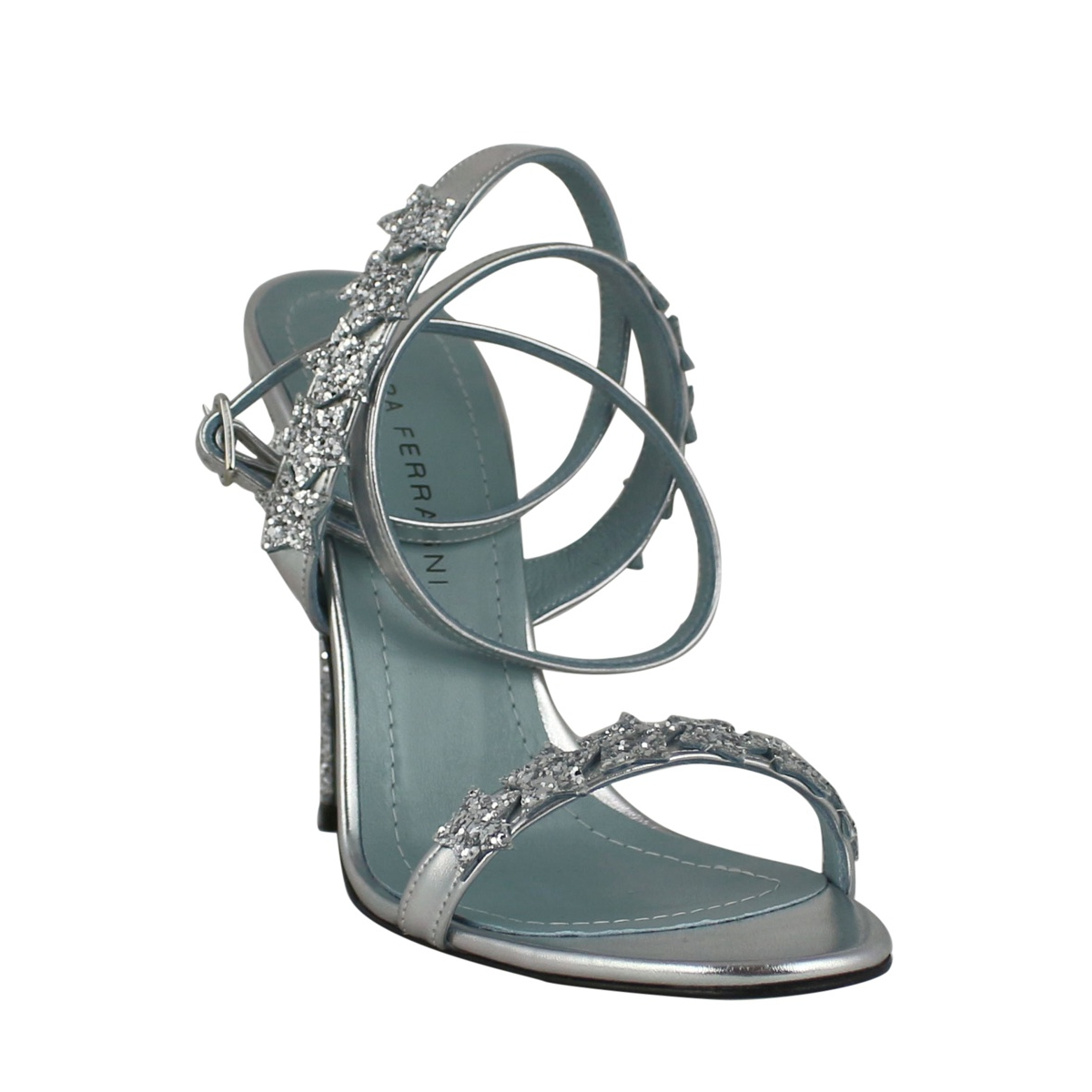 Sandal with heel and bands Silver CHIARA FERRAGNI