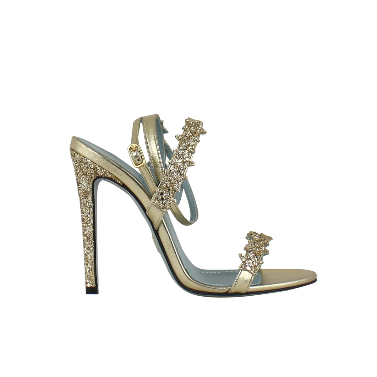 High glittered sandal Gold CHIARA FERRAGNI