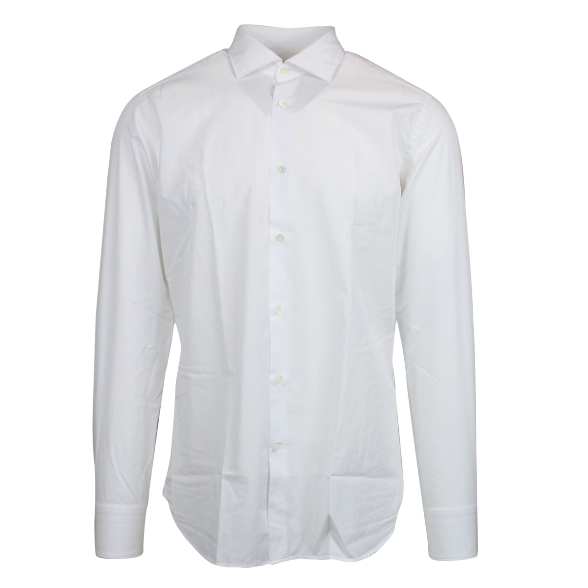 Custom-fit French collar shirt White Guglilminotti