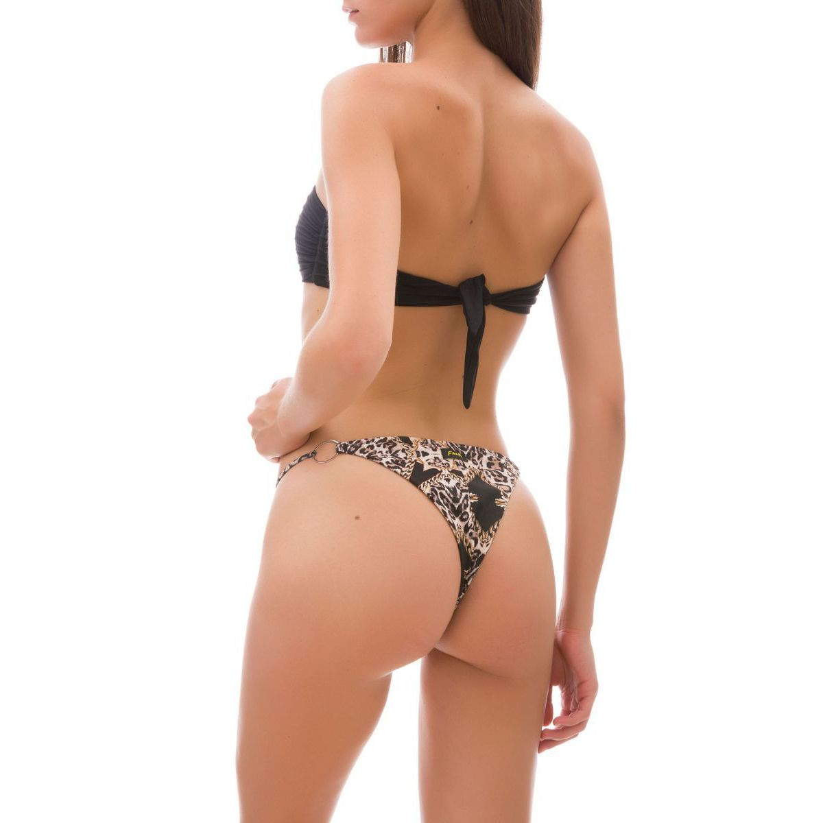Stretch bandeau bikini and side slip The Villa Black F**K