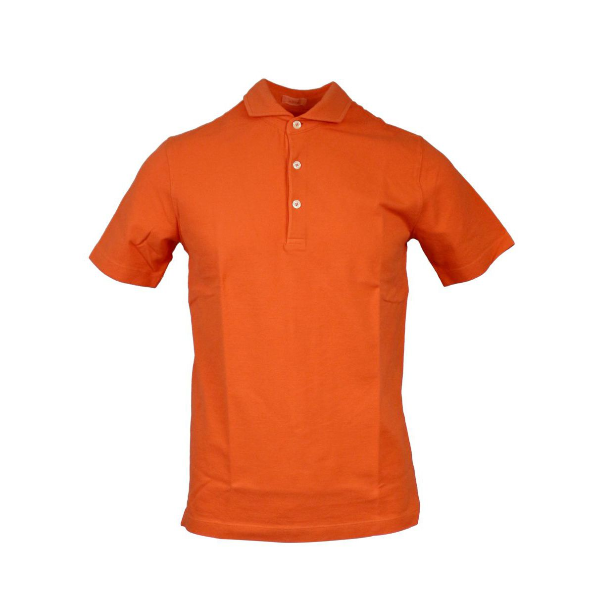 Cotton polo shirt with French collar Orange ALTEA