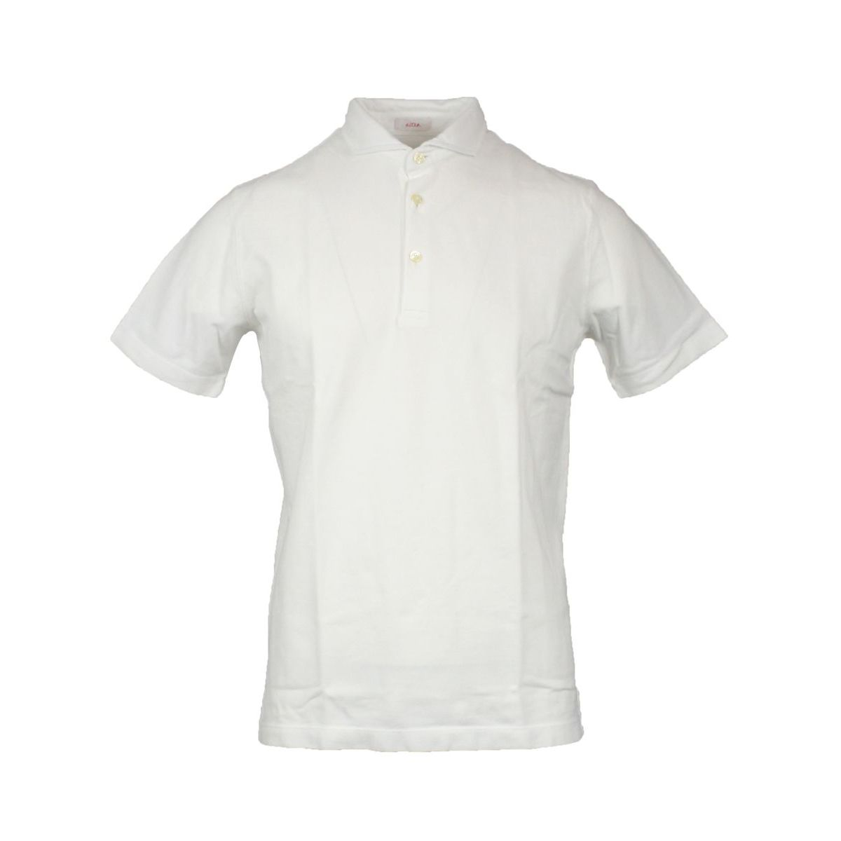 Cotton polo shirt with French collar White ALTEA