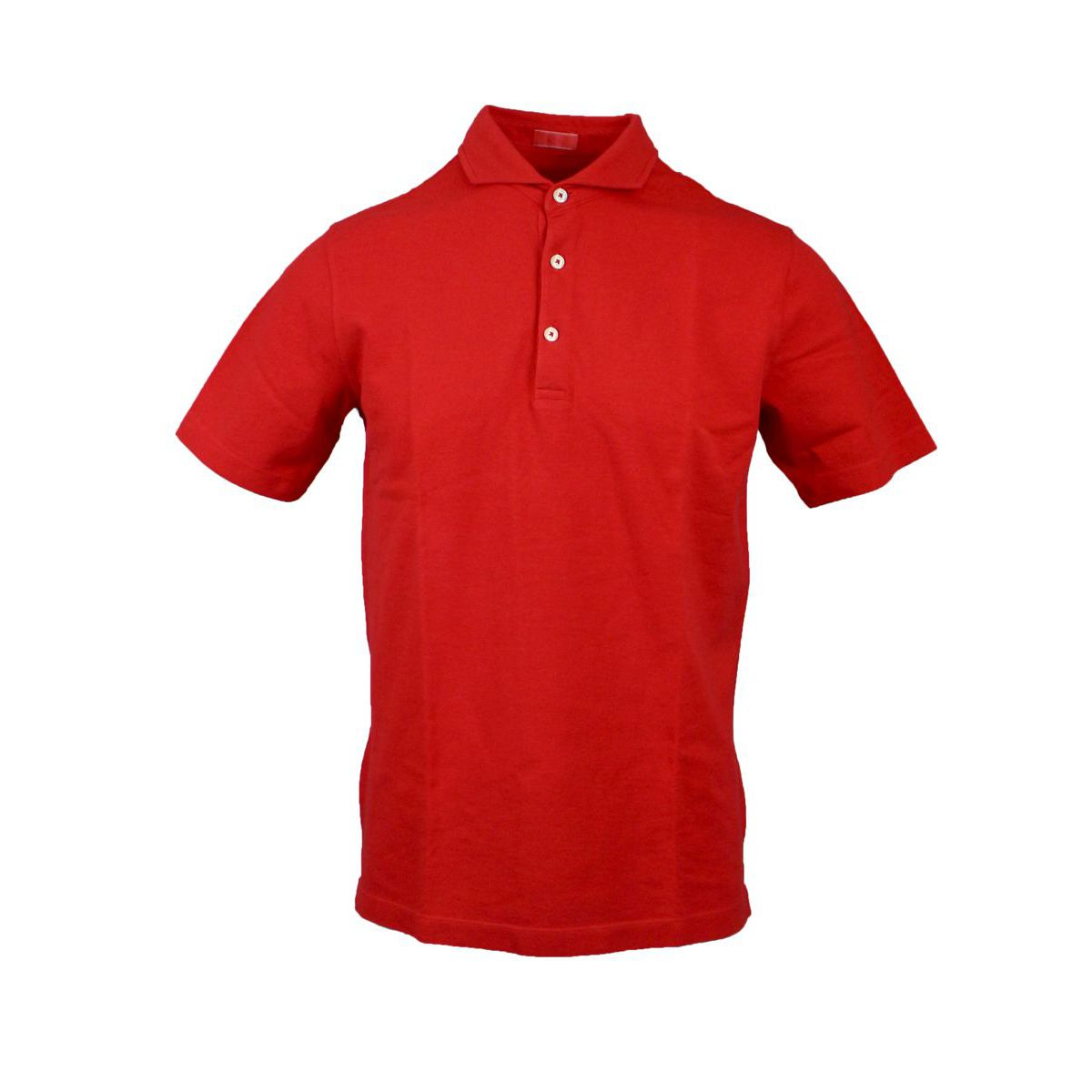 Cotton polo shirt with French collar Red ALTEA