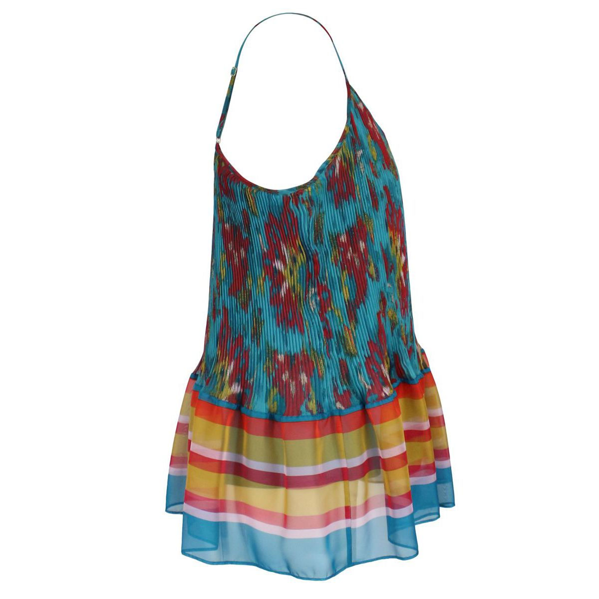 Chiffon top with multicolor print Azzurr fantasy Twin-Set