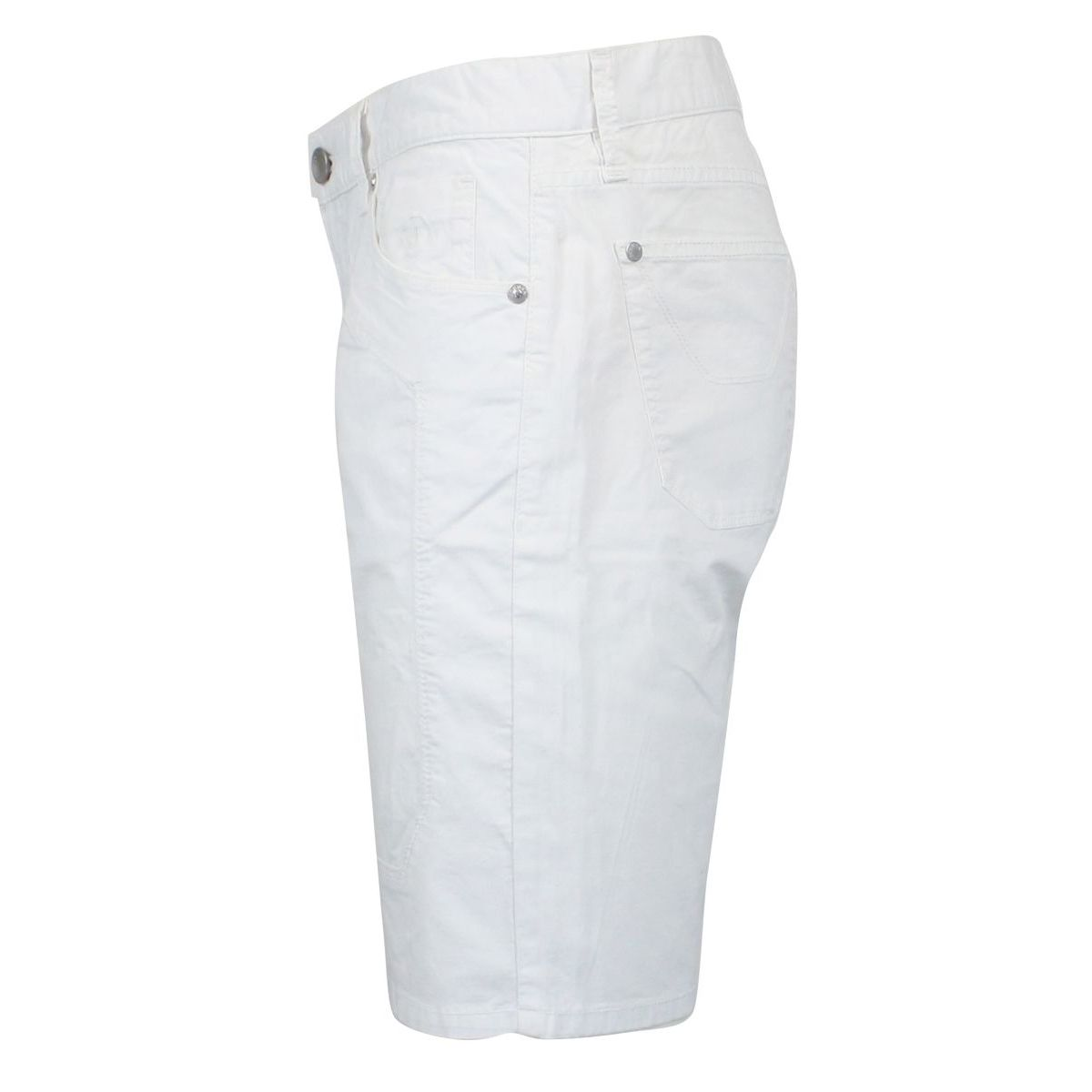 Stretch Bermuda with patches White Jeckerson