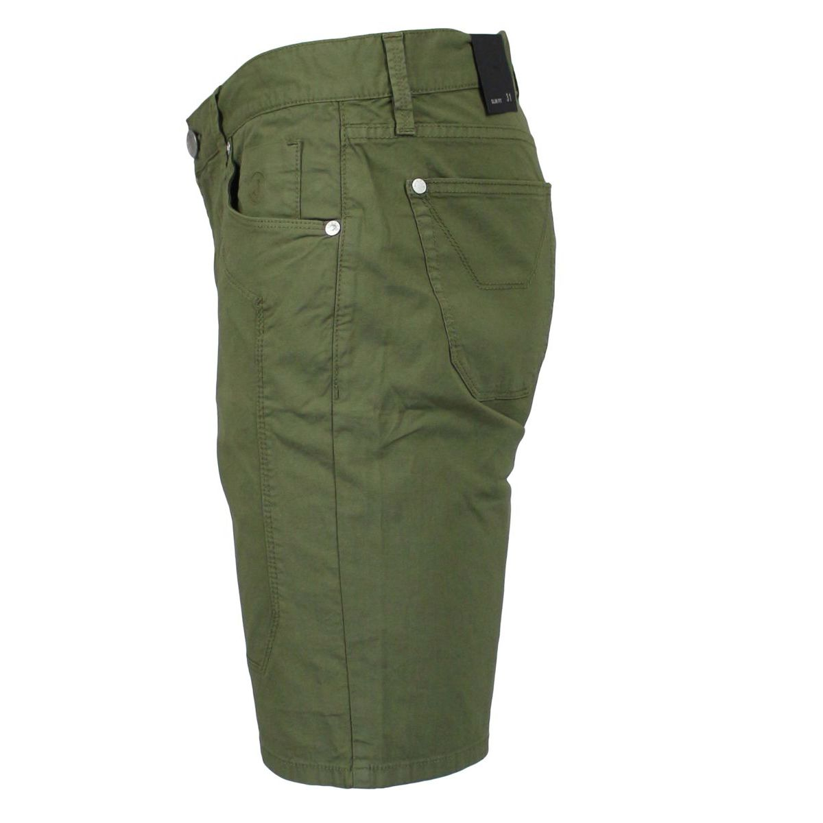 Stretch Bermuda with patches Military Jeckerson