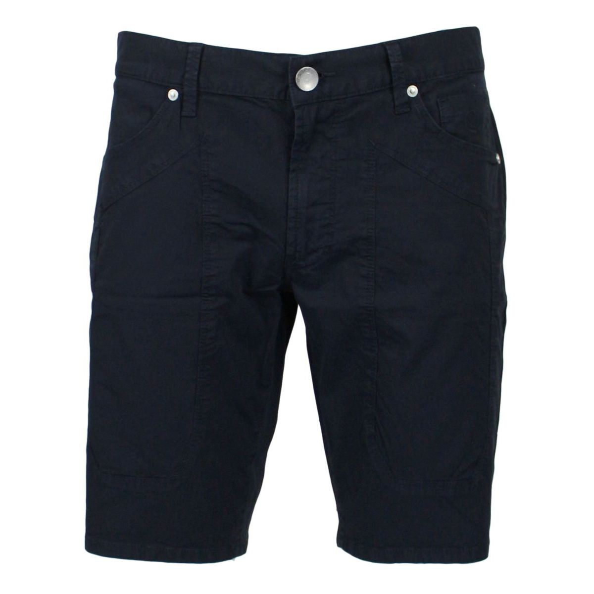 Stretch Bermuda with patches Navy Jeckerson