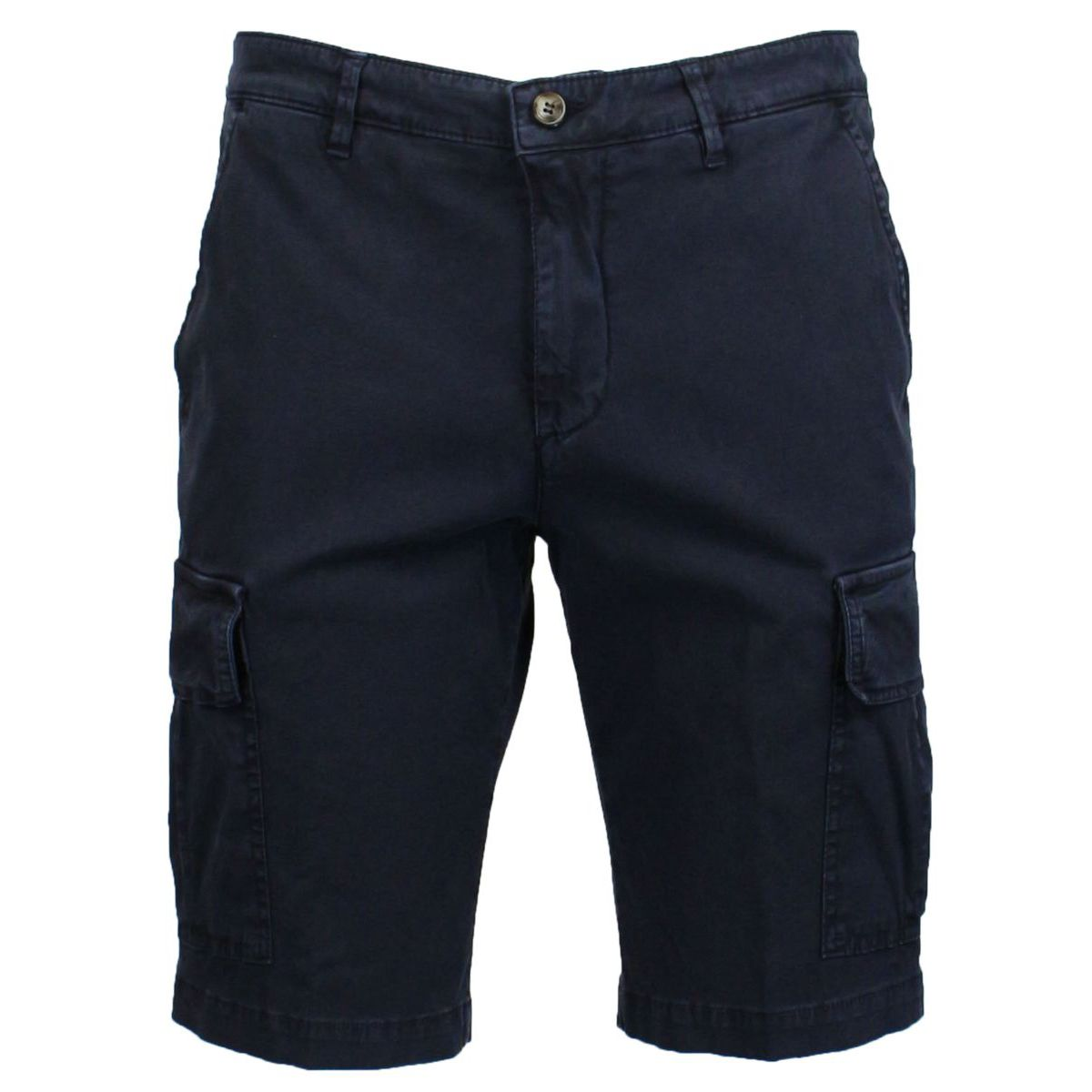 Stretch cotton shorts with pockets Navy Briglia