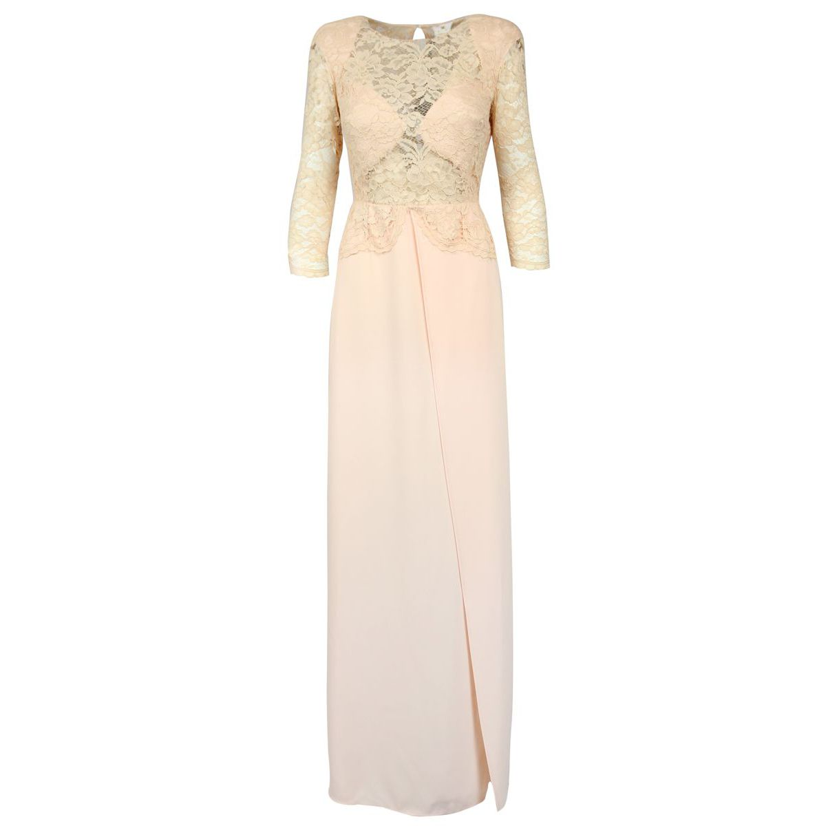 Long dress with lace bust Face powder Elisabetta Franchi